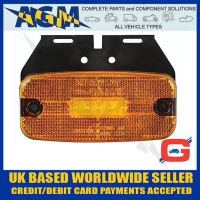 Guardian ML50 Amber LED Side Marker Lamp with Leads, 12/24V