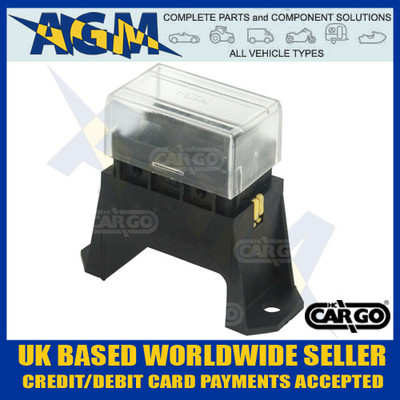 Cargo 191164 Bottom Access Fuse Box for Standard Blade Fuses - 4 Way