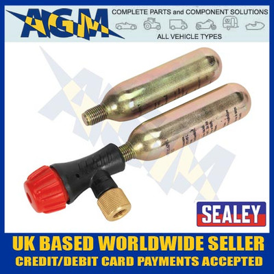 Sealey MS087 Motorcycle CO2 Emergency Tyre Inflator Kit