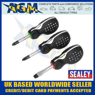 Sealey AK4313 Promax Stubby Screwdriver 3 Piece Set