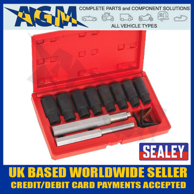 Sealey SX272 Locking Wheel Nut Removal 10 Piece Set