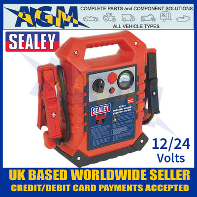 Sealey RS125 RoadStart® Emergency Jump Starter 12/24v 3000/1500 Peak Amps
