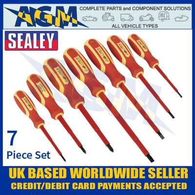 Sealey S0756 VDE Approved Electrician's Screwdriver Set