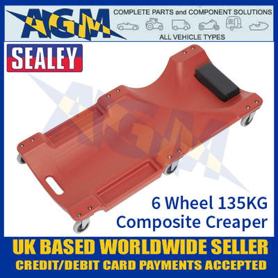 Sealey SCR80 135kg Composite Creeper with 6 Wheels