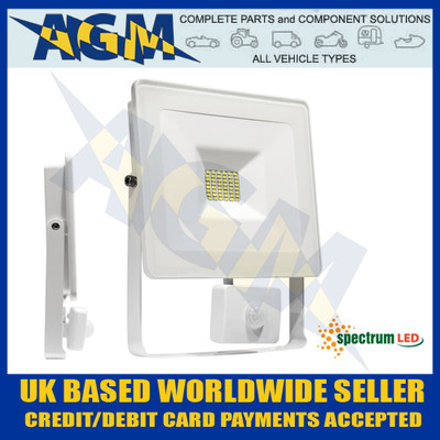 Spectrum Lux SLI029021CWPIR Noctis 20W Led Flood Light With PIR