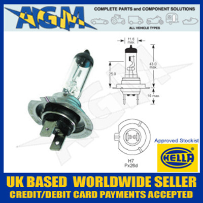 HELLA HB7 12v H7 Headlamp Bulb (Pack of 10)