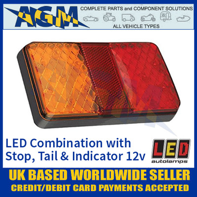LED Autolamps 150BARE LED Rear Combination Lamp Stop/Tail/Reverse 12v