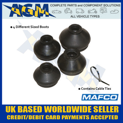 Mafco 300-0014 Asst Pack Of 20 Track Rod End And Ball Joint Boots With Cable Ties