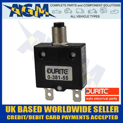 Durite 0-381-55 Circuit Breaker 5A, 12-24v