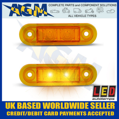 Led Auto-lamps 7922AM2 Side Outline Marker Lamps