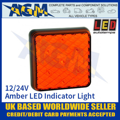 LED Autolamps 81AM LED Amber Indicator Light Lamp 12/24v