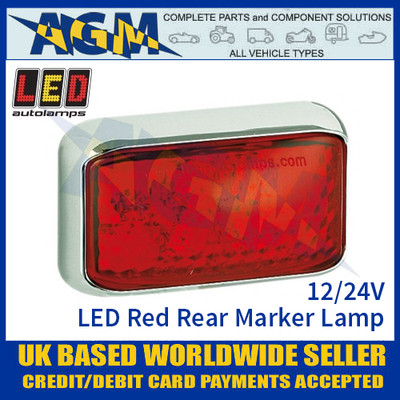 LED Autolamps 58CRME LED Red Rear Marker Lamp Light 12/24v