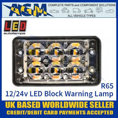 LED Autolamps SSLED62DVAR65 Super-Slim 6 Block LED Warning Lamp