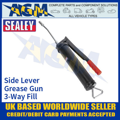 Sealey AK445 Side Lever Grease Gun, 3-Way Fill Grease Gun