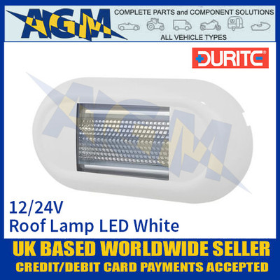 Durite 0-668-67 Roof Lamp SMD LED White, 12/24V, IP67, ECE R10