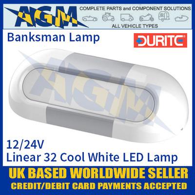 Durite 0-668-51 Banksman 32 Cool White SMD LED, 12/24V, IP67, ECE R10