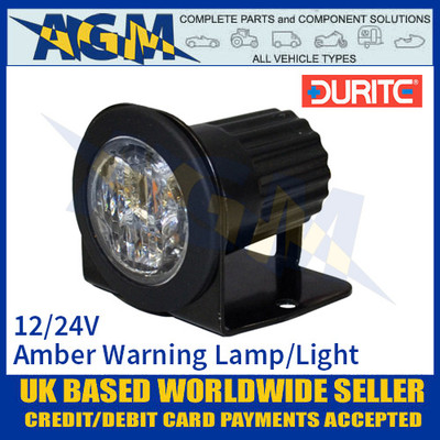 Durite 0-441-40 Amber LED Warning Light, 3 x 3 Watt Amber Warning Light