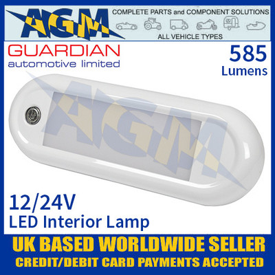 Guardian Automotive INT60 LED Interior Light with On/Off Switch 12/24V