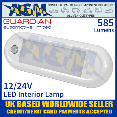 Guardian Automotive INT61 LED Interior Light with PIR Sensor 12/24V