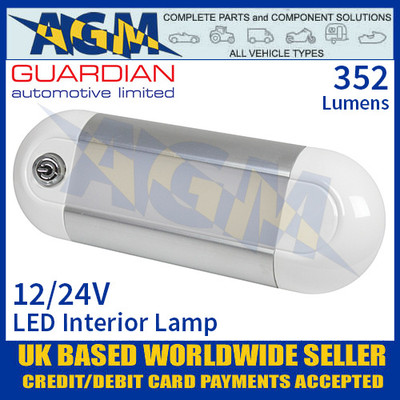 Guardian Automotive INT54 LED Interior Light with On/Off Switch 12/24V