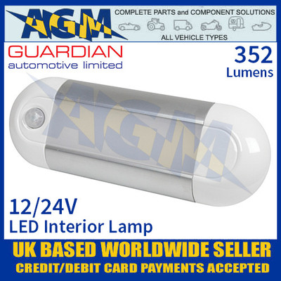 Guardian Automotive INT55 LED Interior Light with PIR Sensor 12/24V