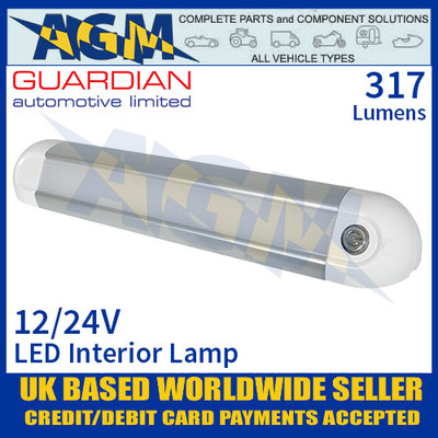 Guardian Automotive INT63 LED Interior Light with On/Off Switch 12/24V