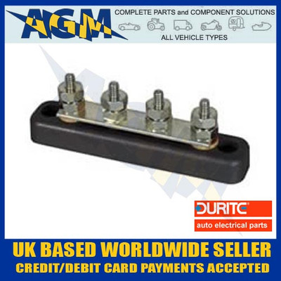 DURITE 0-005-51 4 Way Busbar 100A with ABS Insulated Base