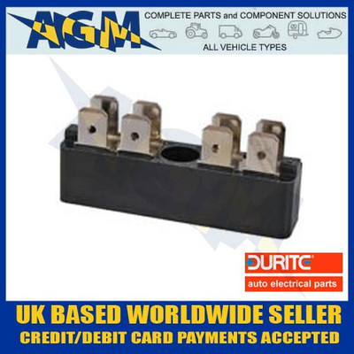 DURITE 0-005-52 2 x 4 Way Insulated Multi Terminal Connector Block