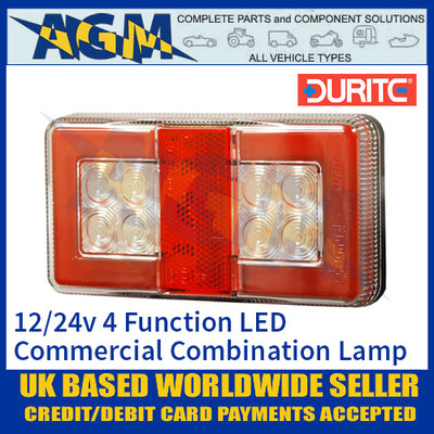 Durite 0-300-80 4 Function LED Commercial Rear Combination Lamp 12/24V