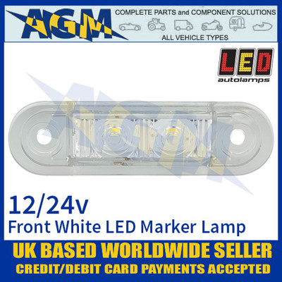 LED Autolamps 7922WMB LED White Front Marker Lamp Light 12/24v