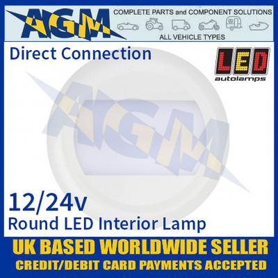 LED Autolamps 13026WM Round LED Interior Light/Lamp, 12/24V