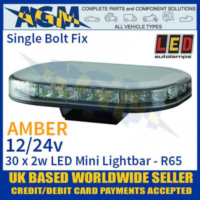 Led Autolamps MLB246R65ABM Single Bolt Led Mini Lightbar - Super Low Profile, 12/24v