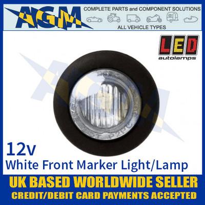 LED Autolamps 181W12E Round LED White Front Marker Lamp Light 12v