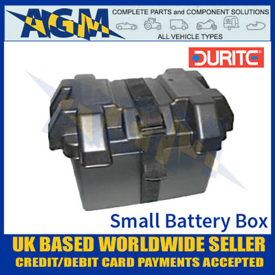 0-087-40 Durite Small Black Moulded Plastic Battery Box, 275 x 180 x 200mm