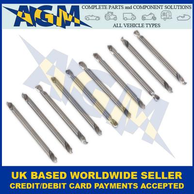 """Sealey AK9910 Double End Drill Bit 10 Piece Set 1/8"""""""