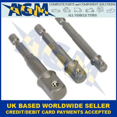 Sealey AK4929 Socket Adaptor 3 Piece Set