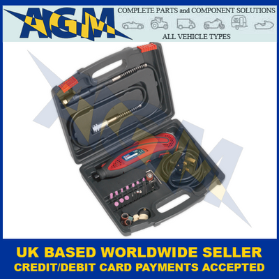 Sealey E540 Multi-Purpose Rotary Tool And Engraver 40 Piece Set, 230v