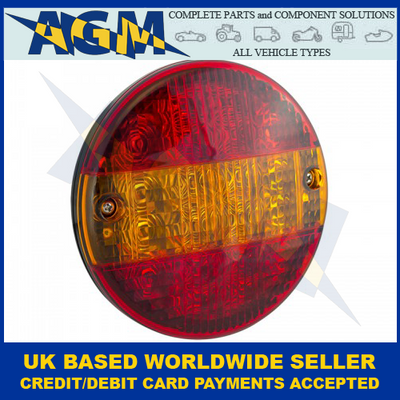 LED Autolamps HB140STIM Slimline Hamburger Stop,Tail And Indicator Lamp 12-24 Volt