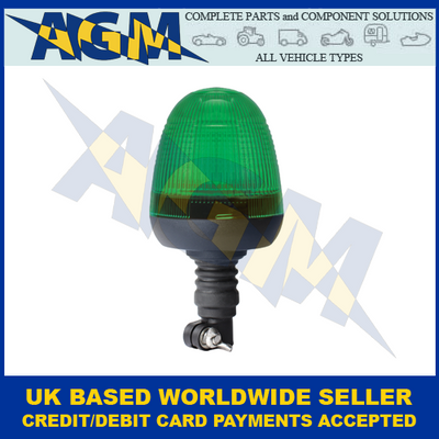 Guardian AMB77G, LED Green Beacon, Spigot Mount, 12/24v