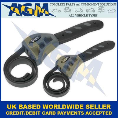 Sealey AK6408 Strap Wrench Two Piece Set