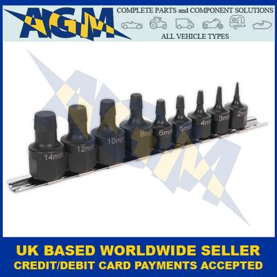Sealey AK7222 Stud Extractor Nine Piece Set