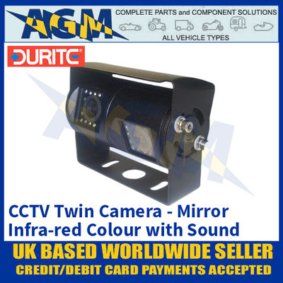 Durite 0-776-14 CCTV Twin Colour Infra-red Camera with Sound, Mirror Image