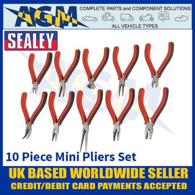 Sealey AK8578 Mini Pliers Set, 10 Piece, Excellent Quality, Mini Pliers Set