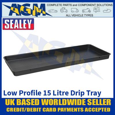 Sealey DRPL15 Low Profile Drip Pan, 15 Litre Capacity, Oil & Fluid Drip Floor Pan