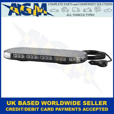 LED Autolamps, MLB380R10ABM-VM, Magnetic, Led Mini Lightbar,  Amber, 12/24v