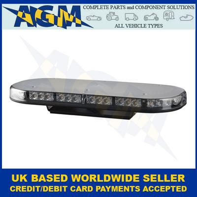 LED Autolamps, MLB380R10ABM, Single Bolt, Led Mini Light Bar, Amber, 12/24v