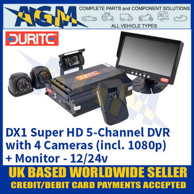 DX1 Super HD 5-Channel DVR with 4 Cameras (incl. 1080p) + Monitor 12/24v