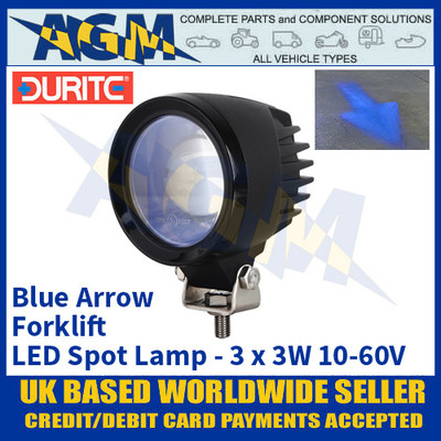 Durite 0-420-84 Forklift Safety Zone LED Blue Spot Safety Light/Lamp - Multi-voltage