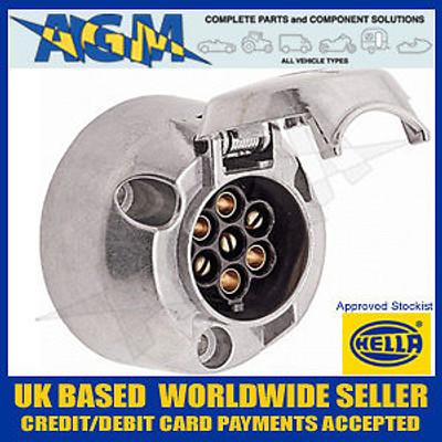 HELLA 8JB001941-002 7 Pin Metal Alloy 12N Socket