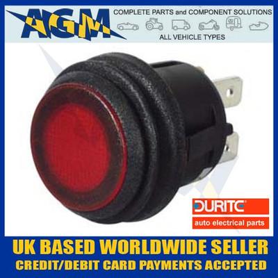 DURITE 0-690-55 Push Push On/Off RED LED Switch 12/24v 10Amp